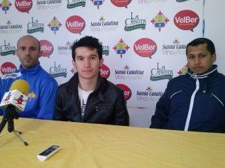 Pitu, Mini y Néstor en Rueda de Prensa