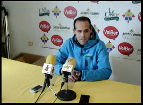 Jose López esta mañana ante los medios ..