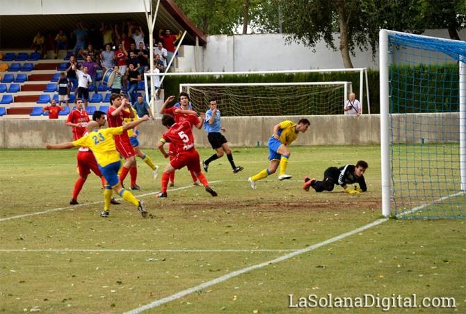 Momento del gol de Chule. Foto:La Sola Digital